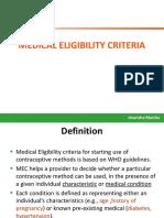 5 WHO Medical Eligibility Criteria