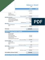 Balance Sheet Sample