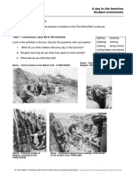 A Day in the Trenches Student Worksheet