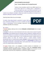 Resumo Ap1 - Algumas Questões Respondidas Da Apostila e Provas