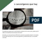 11 Alimentos Cancerígenos Que Hay Que Evitar