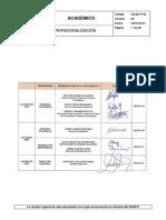 ACAD-P-22 Ciclo de Profesionalización