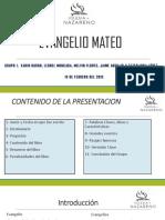 Presentacion Del Evangelio Mateo
