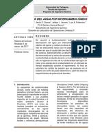 Práctica 2 Desionización Del Agua Por Intercambio Iónico