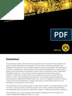 Investor Praesentation Dortmund English