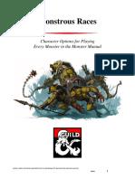 D&D5e - Monstrous Races 1 v2