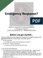 Emergency Response Ppt