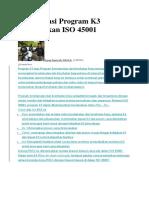 22 Inspirasi Program K3 Berdasarkan ISO 45001
