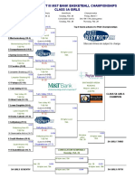 Updated PIAA District-III 2019 Girls Class 5A brackets