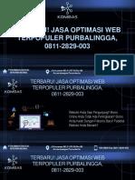 Terbaru! Jasa Optimasi Web Terpopuler Purbalingga, 0811-2829-003