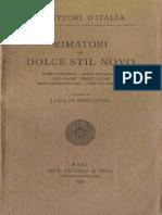 BENEDETTO, Luigi Di. Rimatori del Dolce Stil Novo (1939).pdf