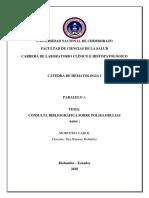 Consulta Bibliográfica Sobre Poliglobulias