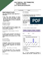 Examen Quinto Grado 2do. Trimestrematematicas