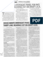 Business Mirror, Feb. 20, 2019, House wants oversight panel for rice tariff law hearing set on draft I.R.R..pdf