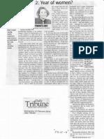 Daily Tribune, Feb. 20, 2019, 2022 Year of women.pdf