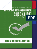 Checklist for Municipal Mayors