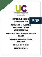Glosario Reglamentación Administrativa