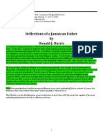 Reflections of a Jamaican Father By Donald J. Harris