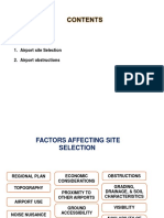 Airport Engineering- 1b- Airport Site Selection, Airport Obstructions