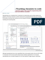 Perspectives- Teaching Chemists to Code