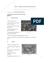 Types of Stones Used in Construction Site