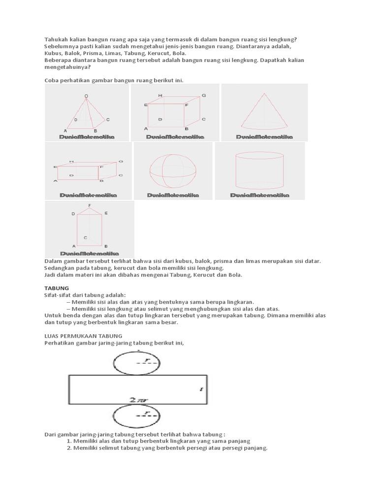 Gambar Jaring Jaring Bangun Ruang Kerucut - Info Terkait ...