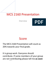 mcs 2160 presentation