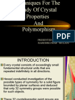 Techniques for the Study of Crystal Properties