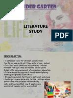 Kindergarten Literature With Case Study