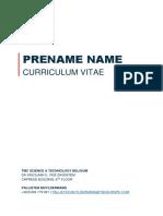 Firstname Lastname TMC CV