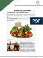 Successo per i laboratori di agricoltura biologica dell'Università di Urbino - 247.libero.it, 18 febbraio 2019