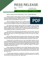 DND-OPA - Press Release - Gazmin Inspects Areas Affected by Typhoon Megi (TS Juan) - 21 October 2010