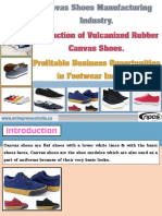 Canvas Shoes Manufacturing Industry