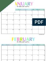 2019 Calendar Colorful (1)