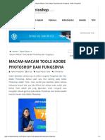 Macam-Macam Tools Adobe Photoshop Dan Fungsinya