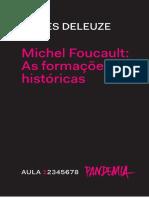 Deleuze, Michel Foucault Histórico Aula 1