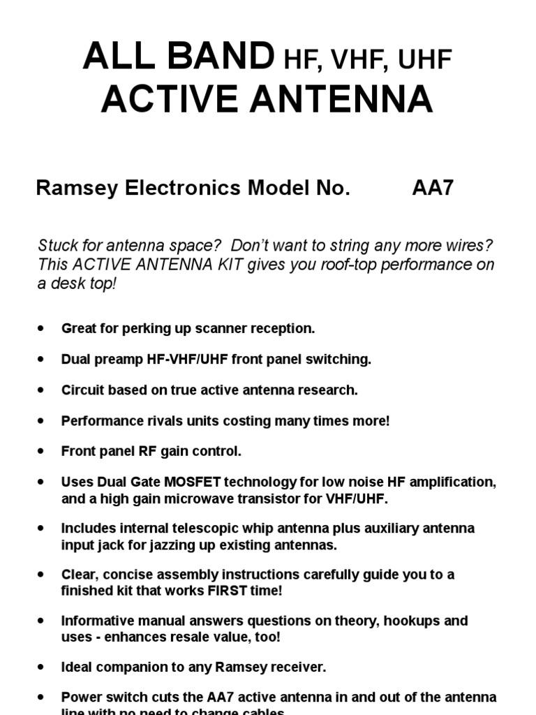 A a 7 | Antenna (Radio) | Printed Circuit Board