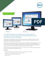 Dell E Series E2213 E1913 E1913S Monitor Channel Brochure