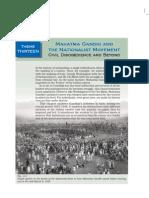 Mahathma Gandhi and Nationalist Movement