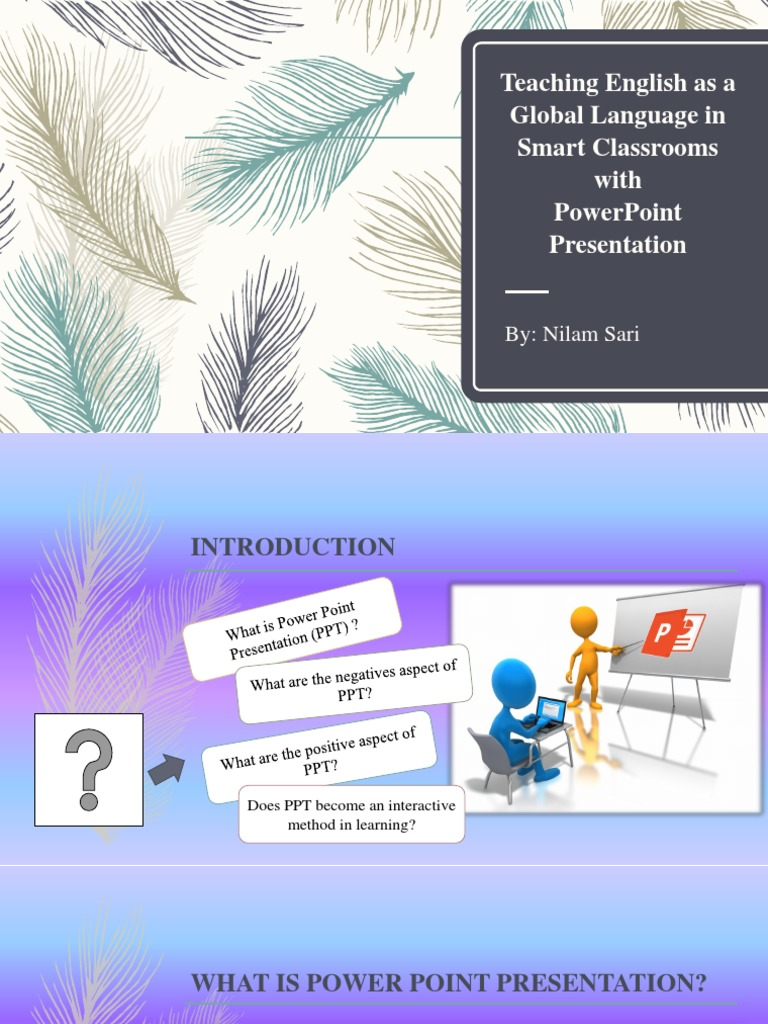 Smart Classroom with PPT pptx   Microsoft Power Point