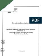 Resolucion Consejo Directivo 016 2019 Resuelve Otorgar Licencia Institucional a Unat 28itl 29