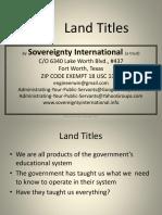 Land Titles 102814