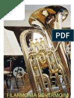 Programa do primeiro concerto da Filarmonia de Vermoim