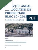 Bilanțul Anual Al Asociatiei de Proprietari Bloc 10- Cex