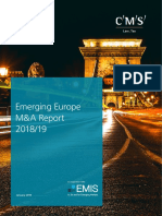 CMS & EMIS Emerging Europe M&a Report 2018-19