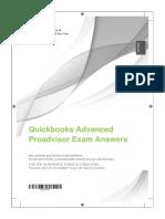 Quickbooks Advanced Proadvisor Exam Answers