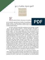 Artículo Por Qué Griego y Latín