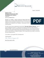 Carta Invitacion Diego Vizhco 2019