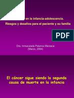 El Cancer en La Infancia Adolescencia Riesgos y Desafios Para El Paciente y Su Familia
