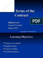Business Law_Terms of the Contract